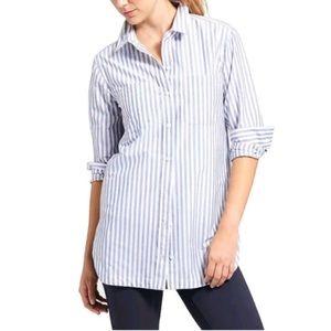 Athleta Striped Weekender Shirt Size Small 591444